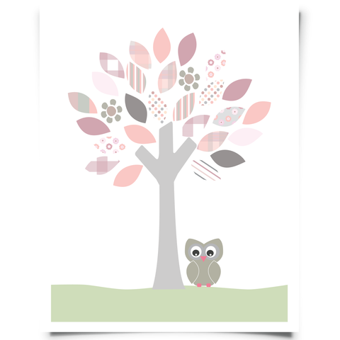 Owl and Tree Free Printable