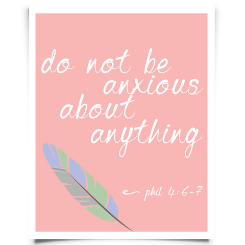 Philippians 4:6-8 Printable - Pink