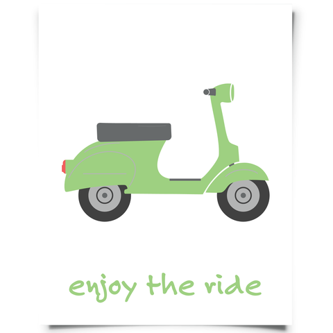 Enjoy The Ride Scooter Printable Green