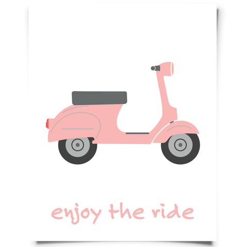 Enjoy The Ride Scooter Printable Pink
