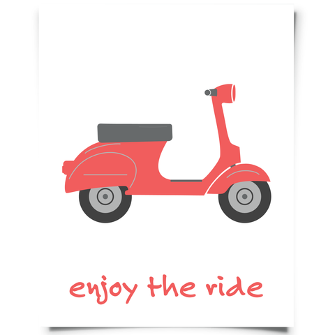 Enjoy The Ride Scooter Printable Red
