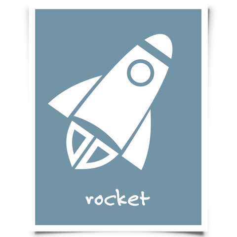 Free Rocket Nursery Art Printable