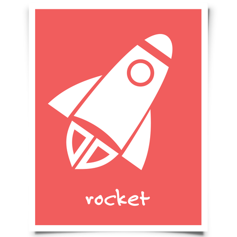 Rocket Nursery Art