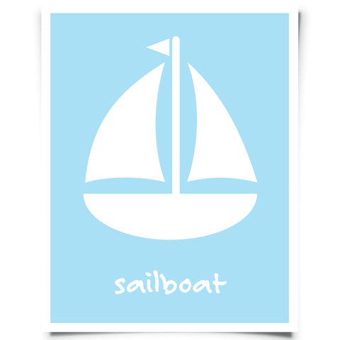 Free Sailboat Printable Aqua