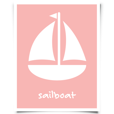 Free Sailboat Printable - Pink