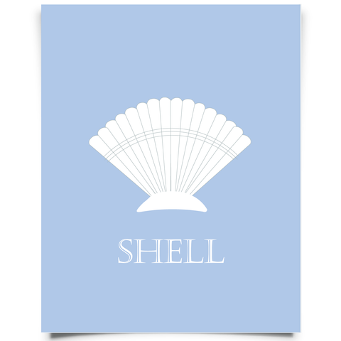 free printable seashell art