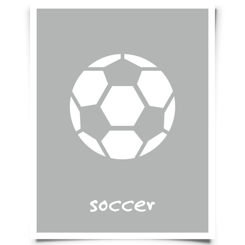 Soccer Printable - Charcoal Gray
