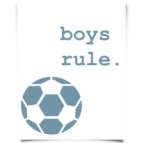Boys Rule Soccer Printable