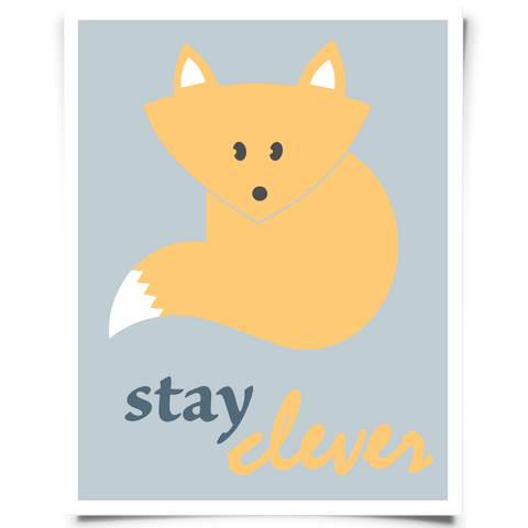 Stay Clever Fox Free Printable