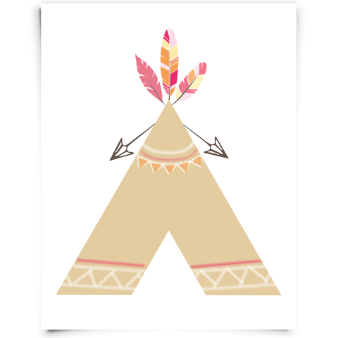 Teepee Nursery Printable
