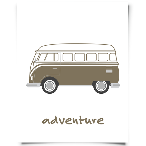 vw van printable cafe