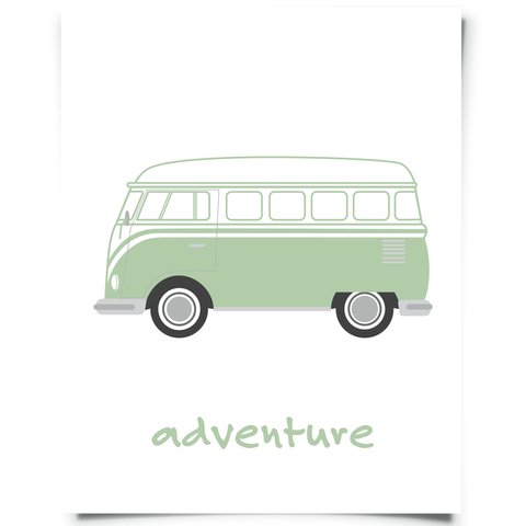 VW Van Printable Jade