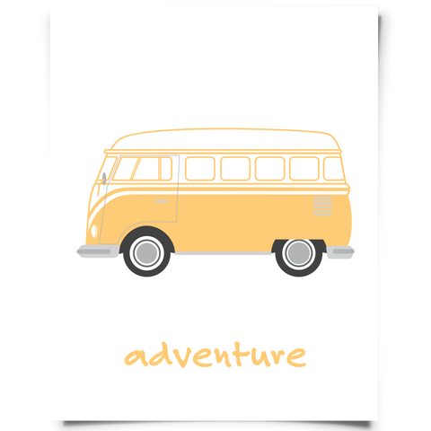 VW Campervan Free Prinable Orange