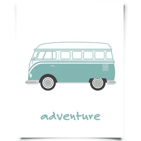 VW Van Printable Peacock