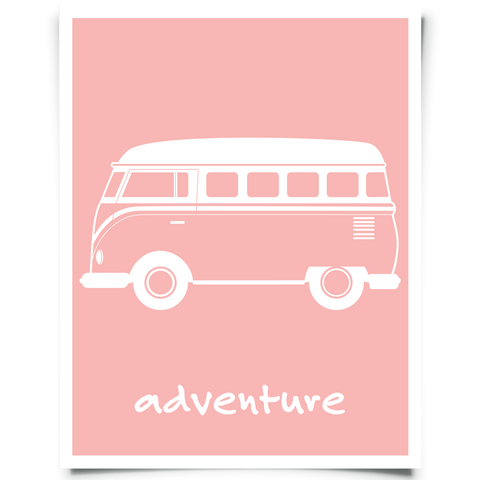 VW Van Printable Pink