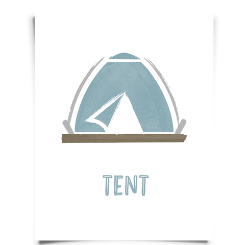Watercolor Tent Nursery Art