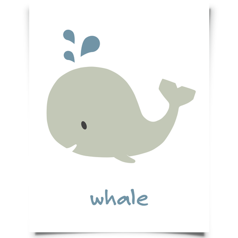 Free Whale Printable  Nursery Art