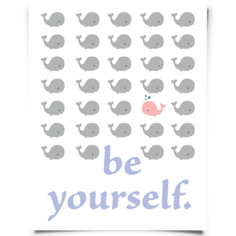 Be Yourself Whale Wall Art