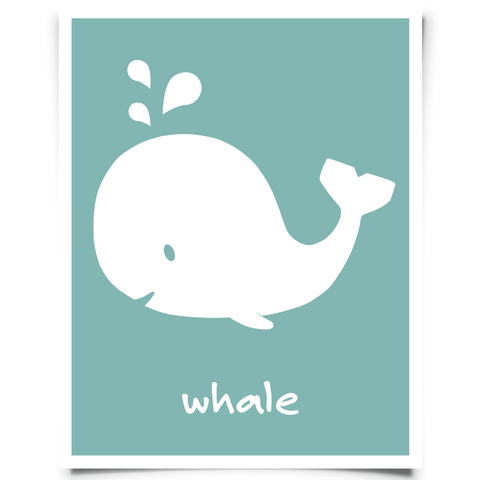 Whale Art Printable Peacock
