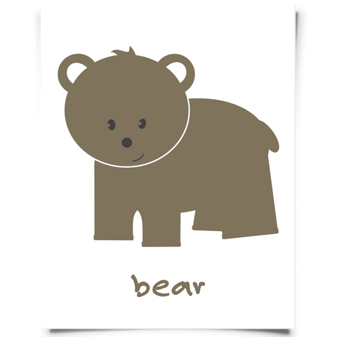 Woodland Bear Brown Free Printable