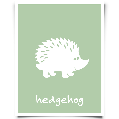 Hedgehog Free Printable - Jade Green