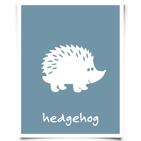 Hedgehog Free Printable - Blue