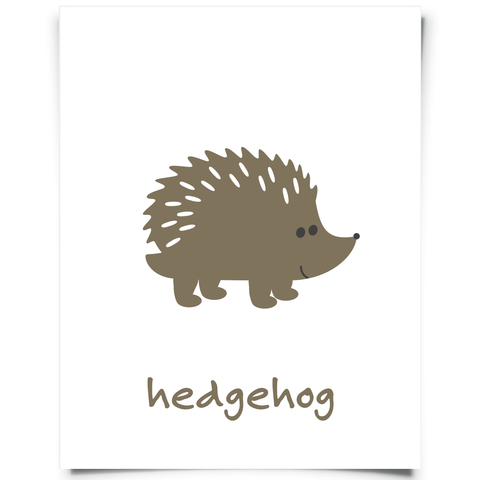 Hedgehog Free Printable - Brown