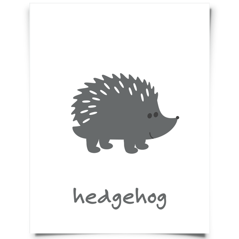 Hedgehog Free Printable - Dark Gray
