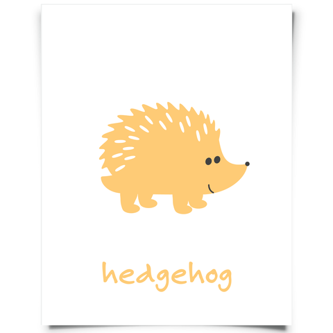 Hedgehog Free Printable - Orange