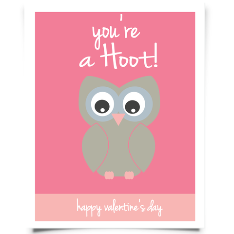 You're A Hoot Valentine's Free Printable