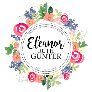 Personalized Floral Nursery Art Print