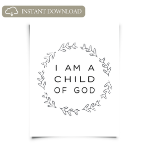 image relating to Who I Am in Christ Printable named I am a Baby of God Printable Artwork
