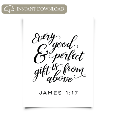 James 1:17 Printable Artwork