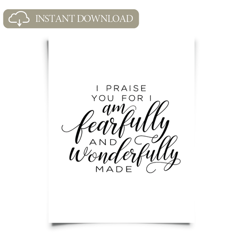 Psalm 139 Printable Art