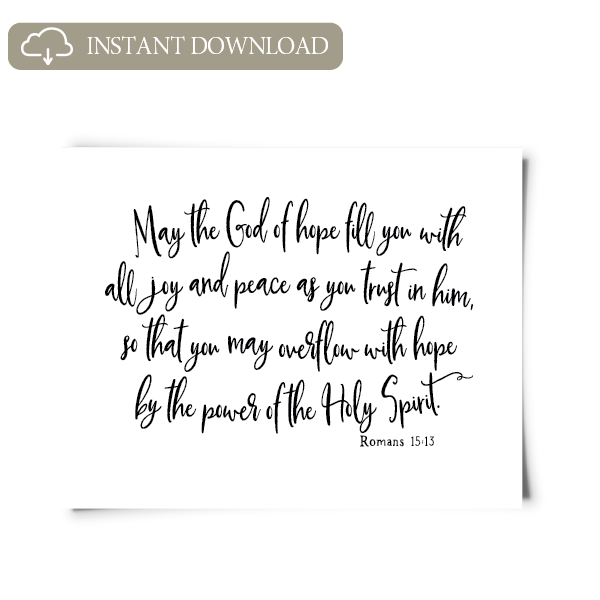 Romans 15:13 Printable Artwork