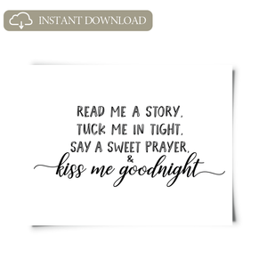 Kiss Me Goodnight Printable Artwork