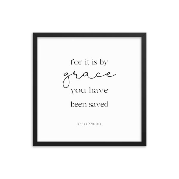Ephesians 2:8 Framed Bible Verse
