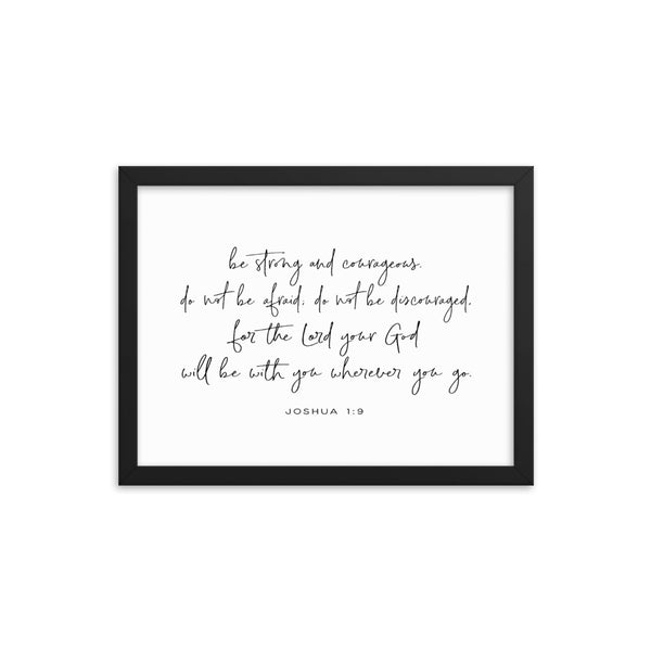 Be Strong and Courageous Framed Wall Decor