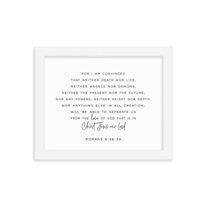Romans 8:38-39 Framed Wall Art