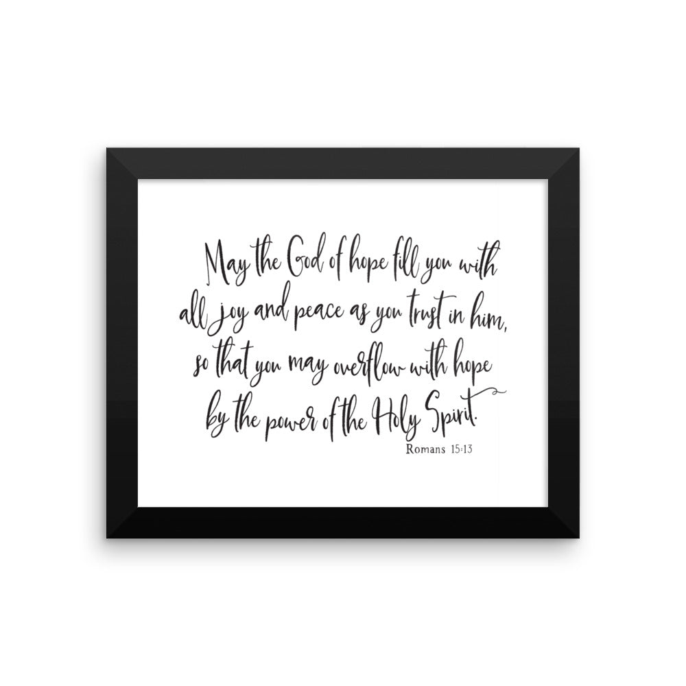 Romans 15:13 Framed Wall Art