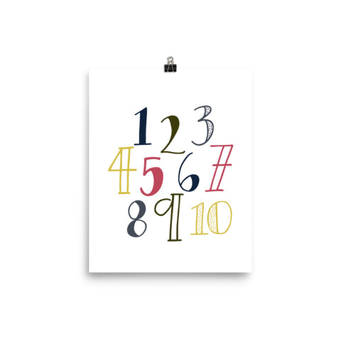 Numbers Nursery Art Print