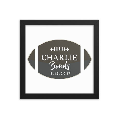 Personalized Football Name Art