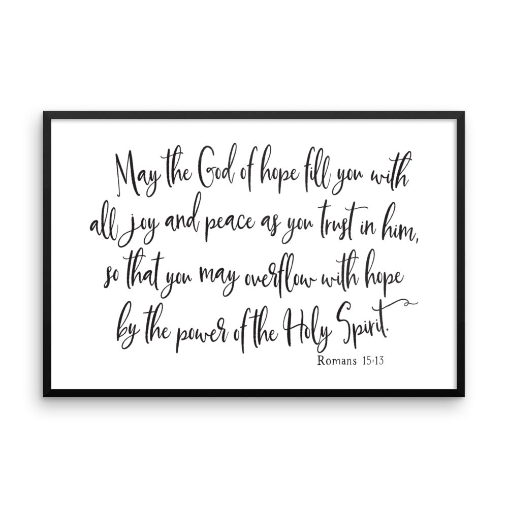 Romans 15:13 Bible Verse Nursery Art by Chickadee Art and Company