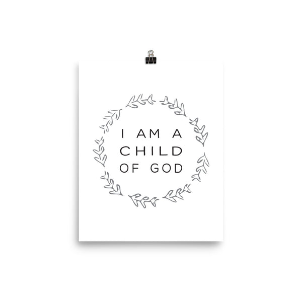 I am a Child of God Nursery Art Print