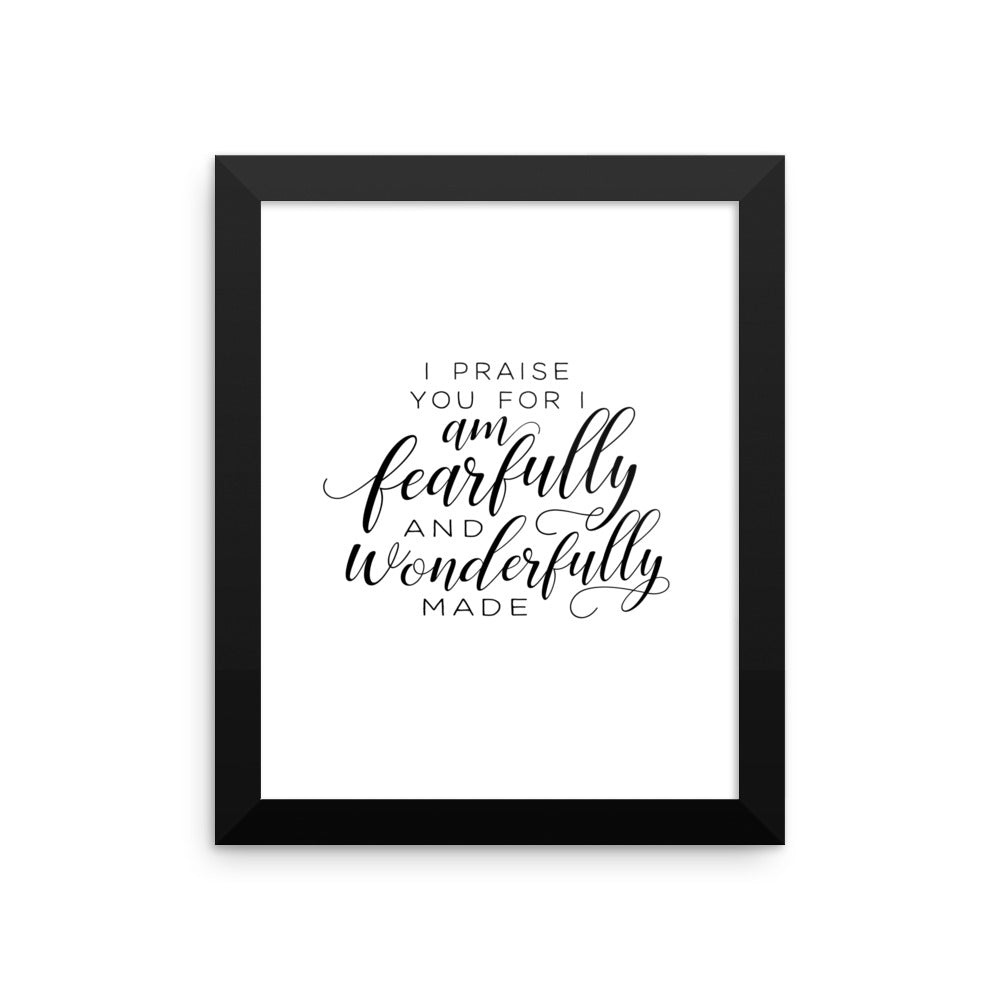 Psalm 139 Framed Artwork