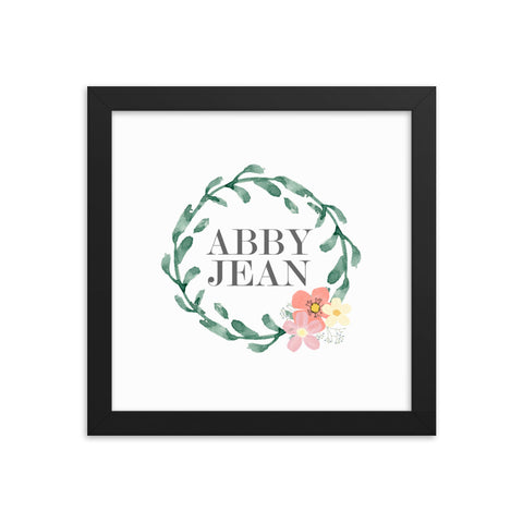 Personalized Name Framed Art