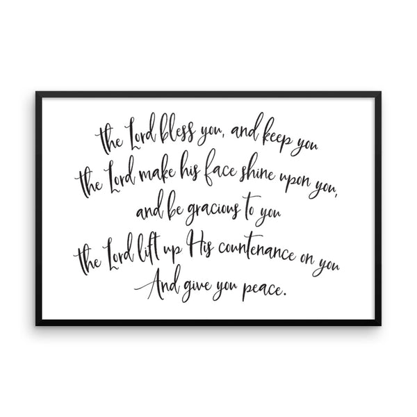 Numbers 6:24-26 Framed Wall Art