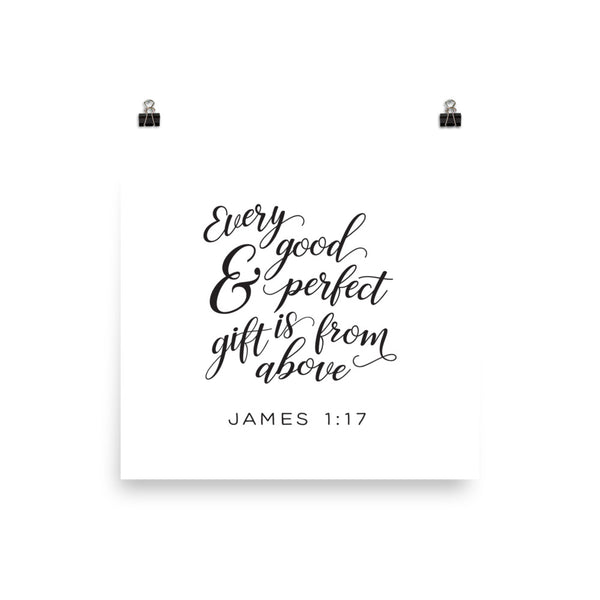 James 1:17 Printed Artwork