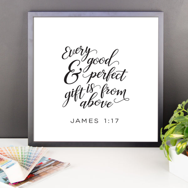James 1:17 Framed Artwork