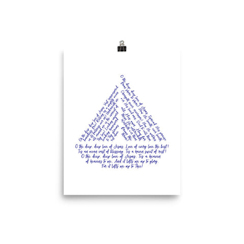 Oh the Deep Deep Love of Jesus Sailboat Print